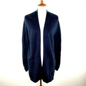 Abercrombie & Fitch Blue Open Chunky Knit Sweater
